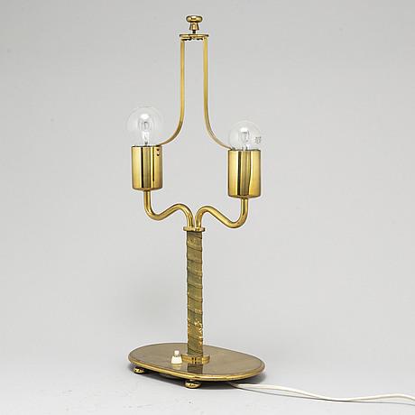 Josef frank, a brass 'model 2388' table lamp, for firma svenskt tenn.