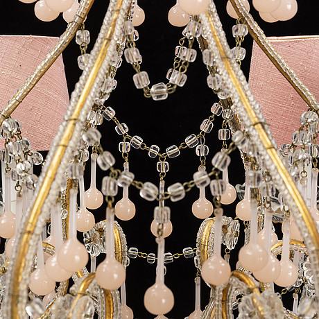 A venitian style chandelier, mid 20th century.
