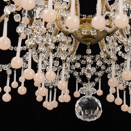 A venitian style chandelier, mid 20th century.
