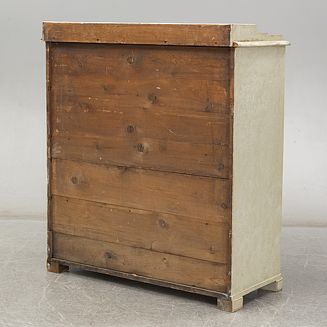 A second half of the 19th century painted cupboard