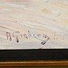Anton genberg, oil on panel, signed.