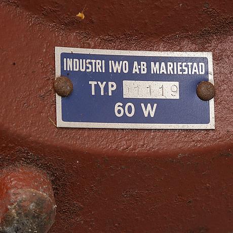 Golvlampa, iwo ab, mariestad, troligen 1950-tal.