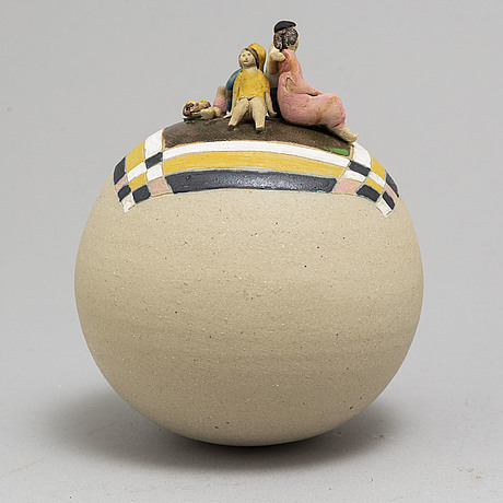 Brita mellander-jungermann, a stoneware sculptire, signed bmj.