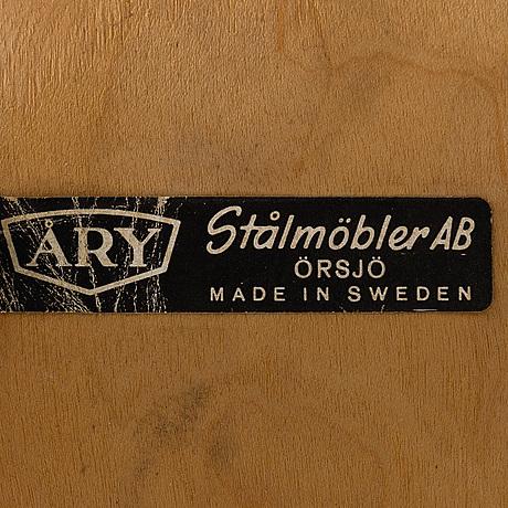 Stolar, 8 st, Åry stålmöbler, Örsjö, 1900 talets mitt