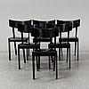 Six 'tati' chairs, ralg lindberg, for gärsnärs, designed 1989