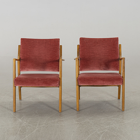 Karl erik ekselius, a pair of armchairs.