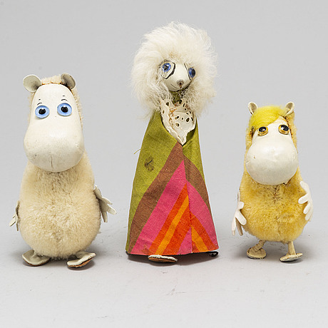 60's moomin characters from ateljé fauni