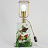 A glass table lamp, presumably alfredo barbini, cenedese, murano
