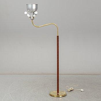 JOSEF FRANK, a model 2368/2148 'Stora Kamelen' brass standard light for Svenskt Tenn, Sweden.