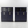 Two sideboards on stands with two wall cabinets, ikea, 1960s.