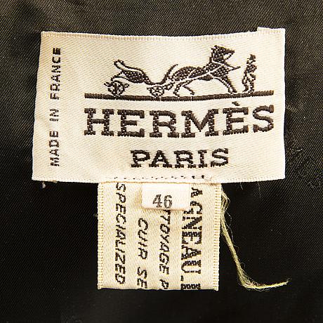 HermÈs vintage suede and silk waistcoat in size 46 (fr)