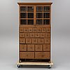 A painted pine cabinet, 19th century.