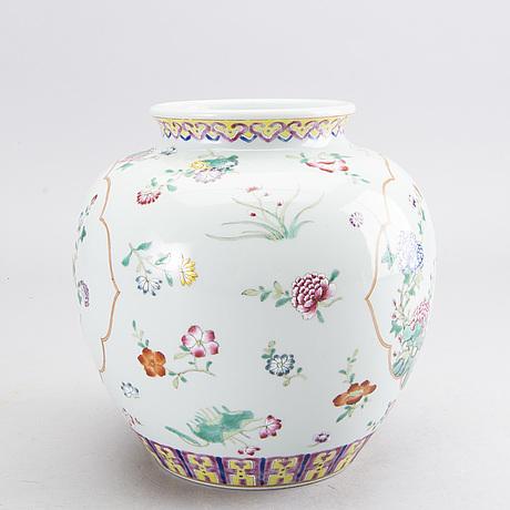 A chinese porcelain vase, modern manufactory.