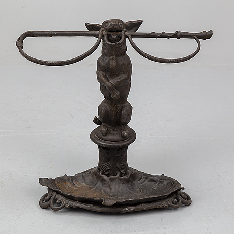 A cast iron umbrella stand from bolinder, stockholm, early 20th century.