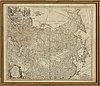 A 1739 johann hase and homann heirs, map of russia and asia, 'imperii russici et tatariae universal'.