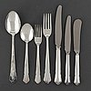 Gab, a part 'chippendale' silver cutlery, stockholm, 1970s. (62 pieces).