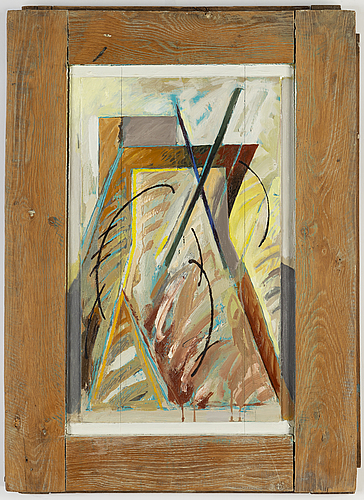 Gerhard titus-carmel, oil on panel, signed and dated 1987 on verso.