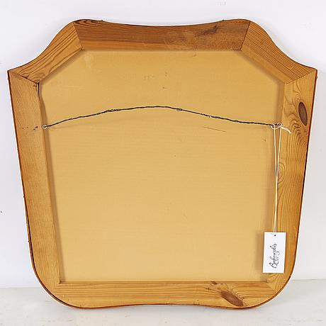A swedish modern teak framed mirror, 1940's