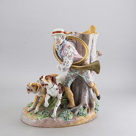 A porcelain sculpture/vase with a meissen similar mark.