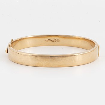 14K gold bangle, Finnish hallmark.