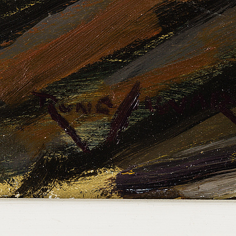 Rune sigvard, oil on canvas, signed.
