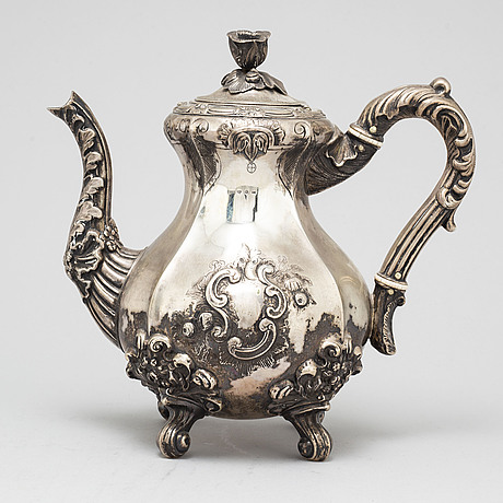 A silver teapot, carl petter norlin, malmö 1848
