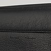 Proenza schouler, a black leather 'wallet with strap'