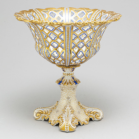 A large late empire chesnut basket, 19th century, possibly russian.