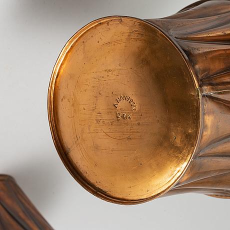 Ytterfoder, 6 st, koppar, a hansson, Örnsköldsvik, 1900-talets första hälft.