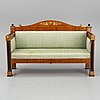 A swedish empire sofa, first half of the 19th century.