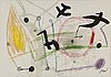 Joan mirÓ, litograph in colours, signed in the print