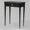 A gustavian style table, mid 20th century