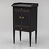 A gustavian style bedside table, mid 20th century