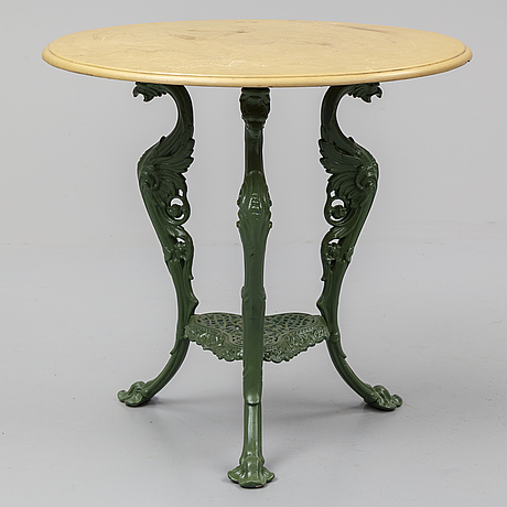 A 20th century garden table
