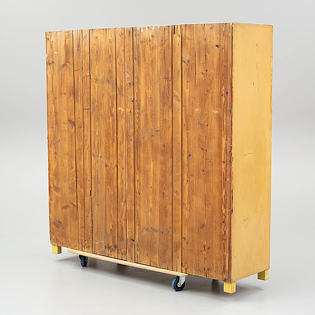 A early 20th century locker room cabinet.