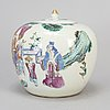 A large famille rose jar, qing dynasty, late 19th century.