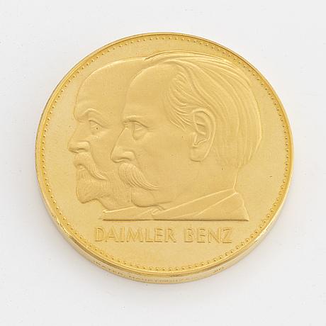 Daimler benz, medalj, guld.