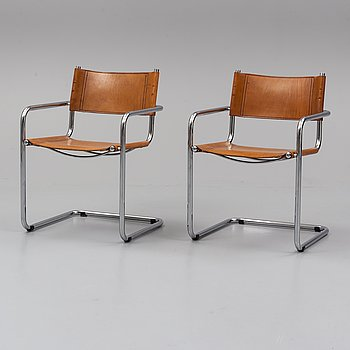 Two armchairs, second half of the 20th century.