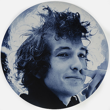 """Hasse persson, photograph """"bob dylan"""", 1966, signed."""