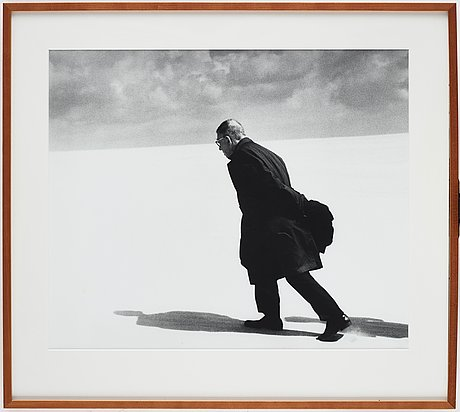 "Antanas sutkus, ""j.p sartre in lithuania, nida, 1965""."