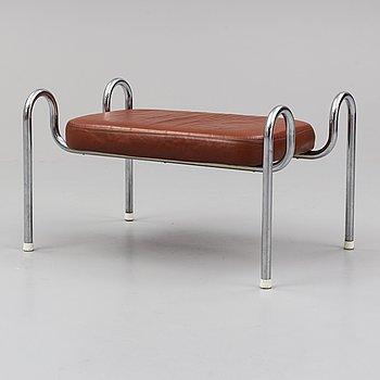 TOMMY SUNDBERG, a 'Sheraton' leather covered tubular steel stool.