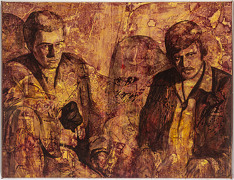 Ulf nordstrÖm, oil /mixed media on canvas, signerad and dated 1989 verso.