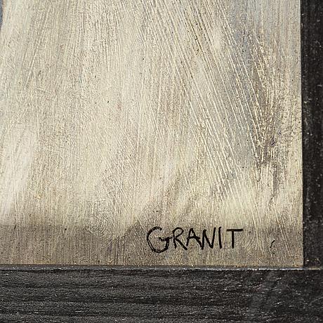 Joachim granit, oil /mixed media on panel, signed.