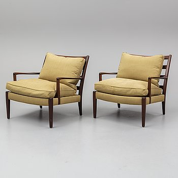 ARNE NORELL, a pair of easy chairs.