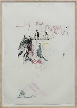 ASTRID SVANGREN, färgpenna på papper, signerad Astrid Svangren och daterad -05.