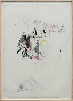 ASTRID SVANGREN, pencil on paper, signed.