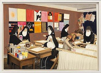 FREDRIKA ANDERSON, akvarell, tusch och gouache på papper. Signerad etikett a tergo.