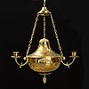 An empire-style hanging lamp, circa 1900.