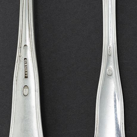 A part 'gammel dansk' silver cutlery, denmark and sweden, including cohr, mema, clement, weikert (91 pieces)