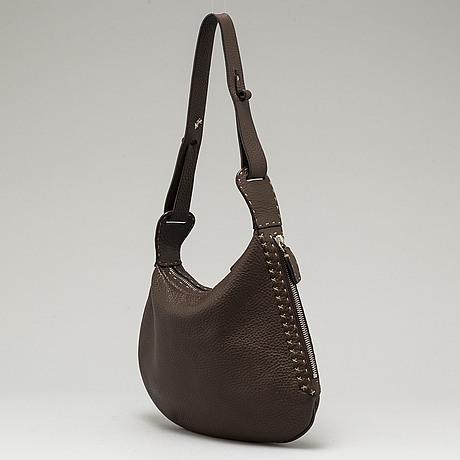 Fendi, a brown leather bag